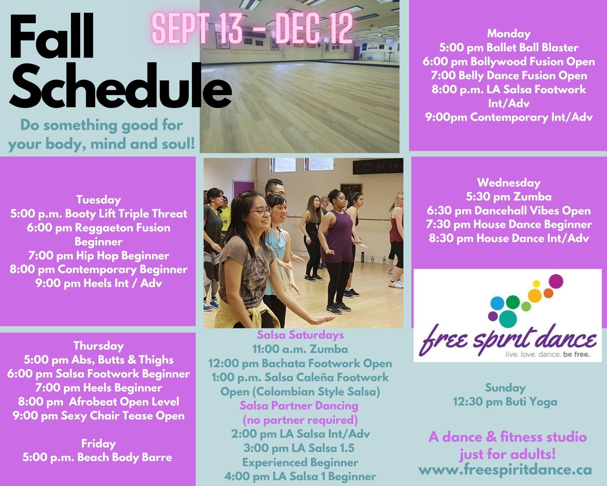 fall adult dance classes